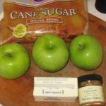 Here are all the ingredients for the sauteed apple portion of the dessert